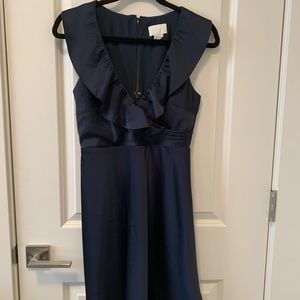JCrew Navy Ruffle Dress